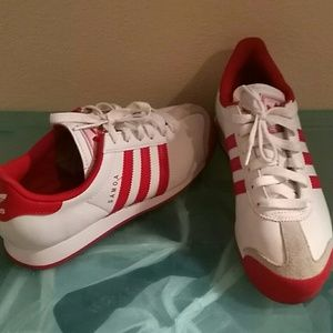 Adidas ortholite  red and white